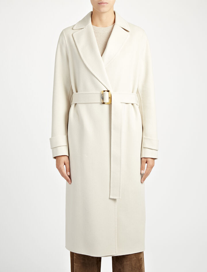 Double Face Cashmere Dale Coat, in BONE, large | on Joseph
