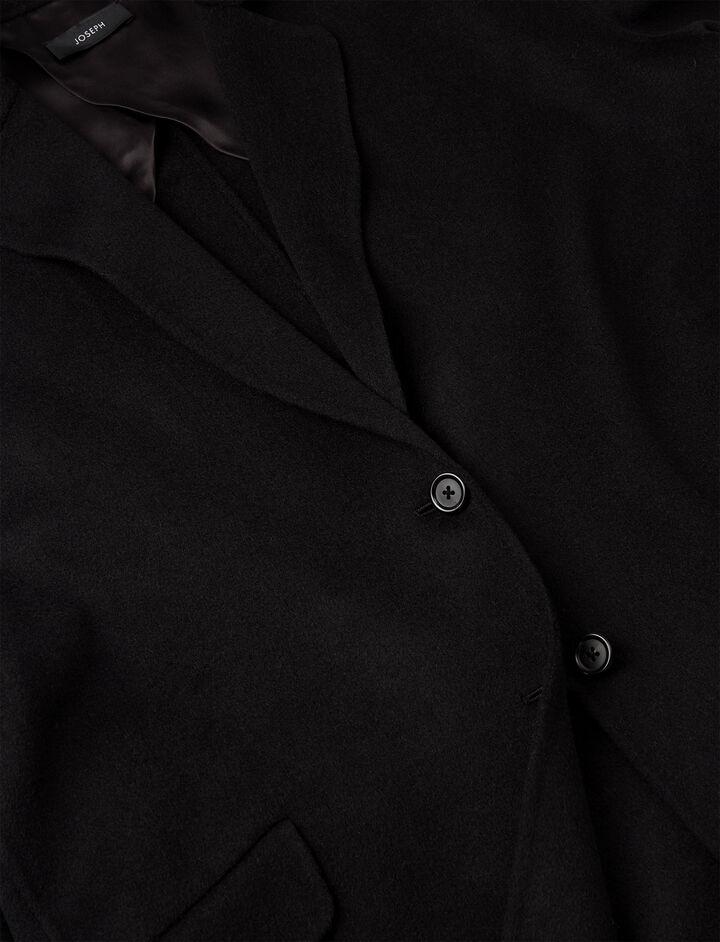 Manteau court Sido en double cachemire léger, in BLACK, large | on Joseph