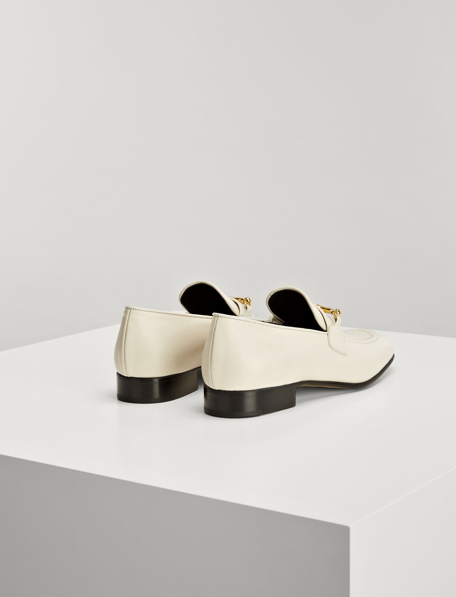 Calf Leather Loafer, in WHITE, large | on Joseph