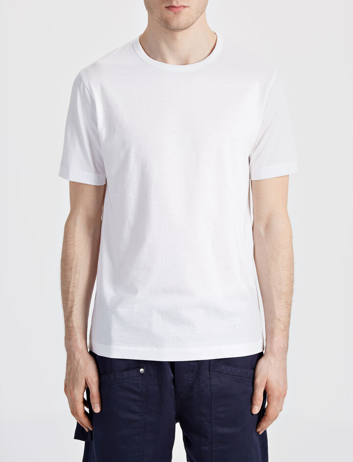 Mercerized Jersey Tee, in WHITE, large | on Joseph