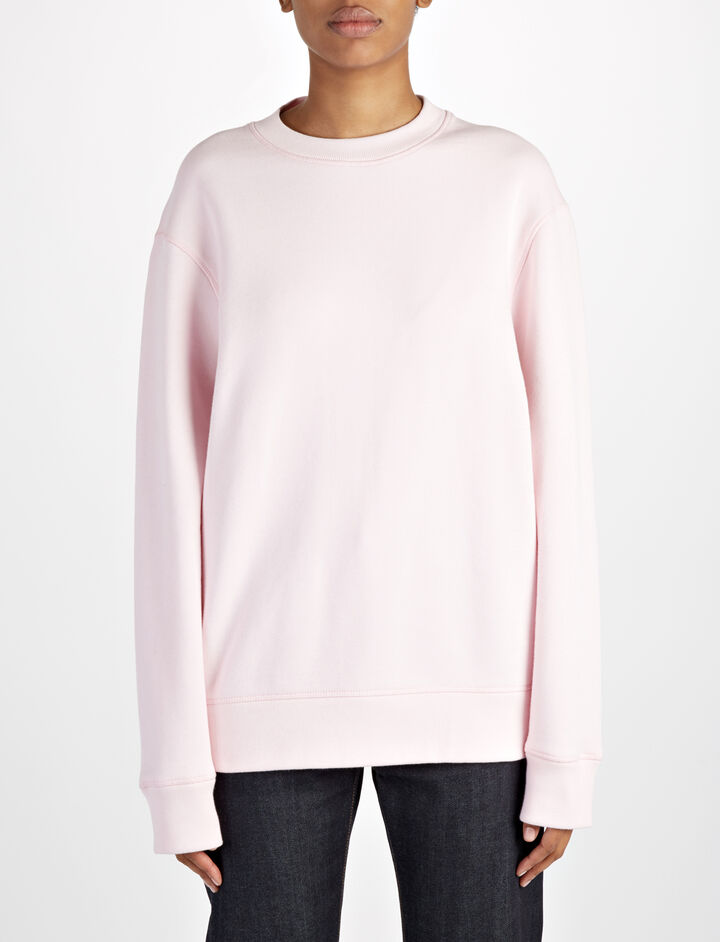 Open Loop Back Sweater, in BUBBLE GUM, large | on Joseph