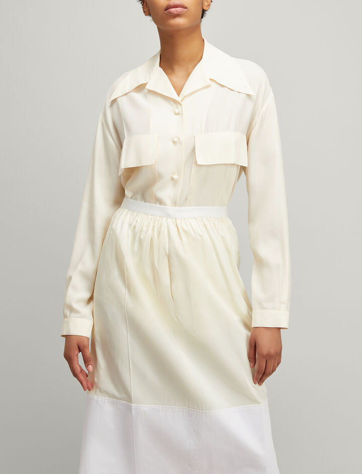 Joseph, Silk Toile Cam Shirt, in CREAM