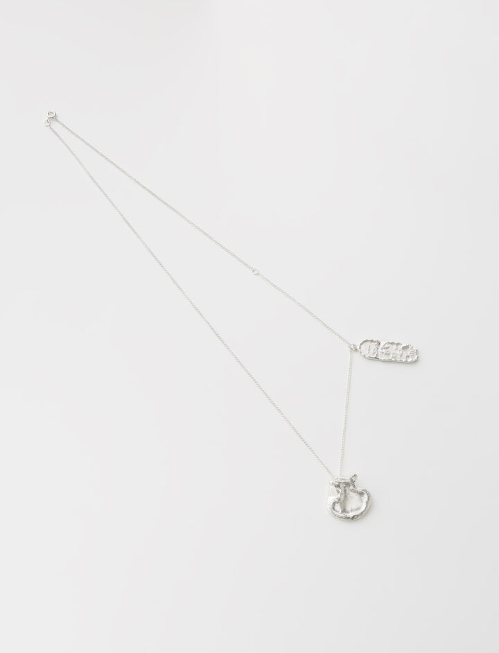 The Fractured Cloud Charm Necklace, in SILVER, large | on Joseph