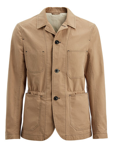 Compact Cotton Albury Jacket, in BEIGE, large | on Joseph