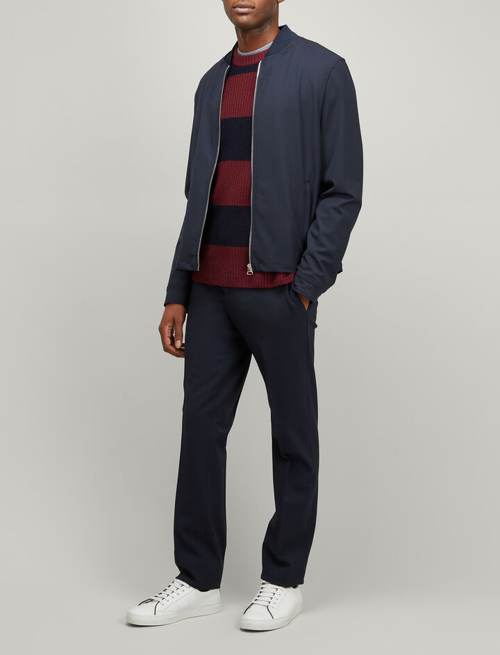 Joseph, Techno Wool Stretch Monterey Coat, in DARK NAVY