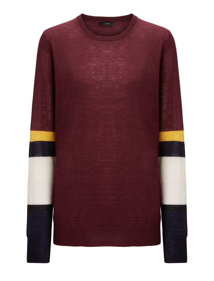 Joseph, Cashair Stripe Round Neck Sweater , in MORGON