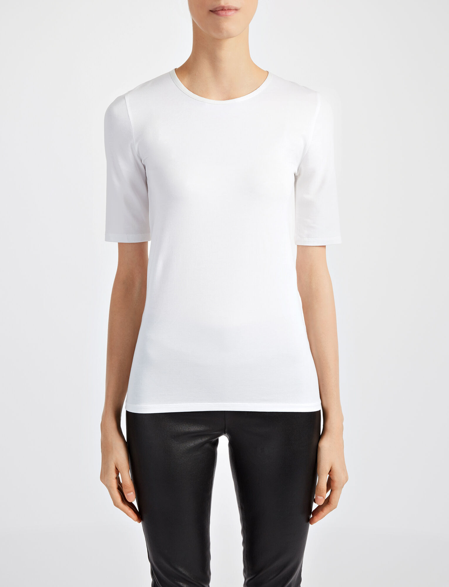 Joseph, Haut en coton et lyocell stretch, in OFF WHITE