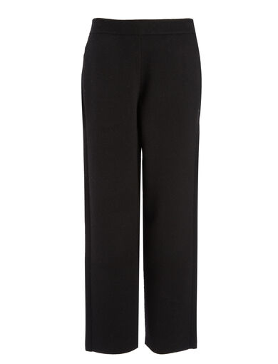 Soft Wool Trousers, in BLACK, large | on Joseph