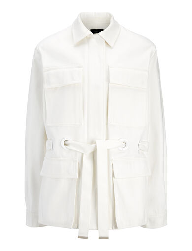 Veste Ross en coton raso, in CHALK, large | on Joseph