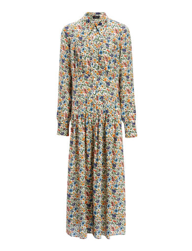 Liberty Print Josie Dress, in MULTICOLOR, large | on Joseph
