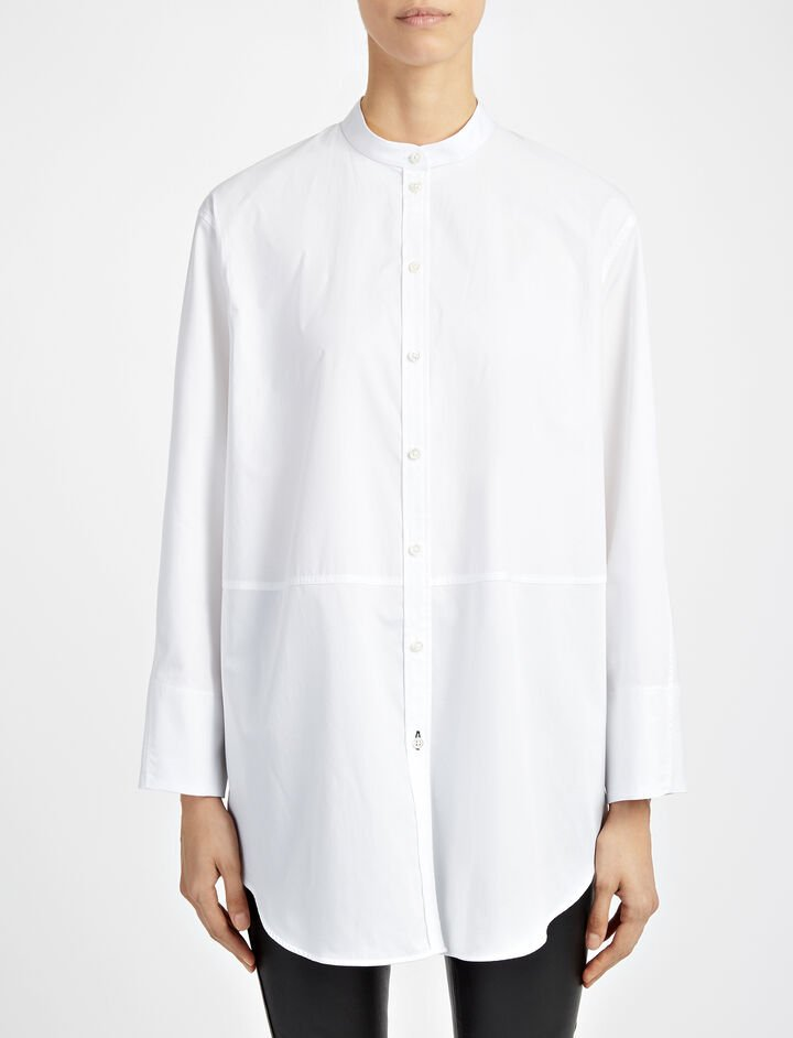 Chemise Blanche Lenno Blouse, in WHITE, large | on Joseph