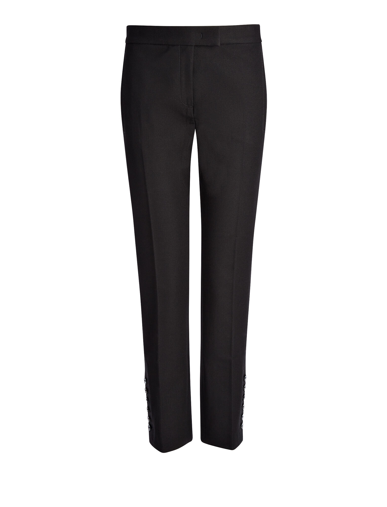 Joseph, Gabardine Stretch Finley Button Trouser, in BLACK