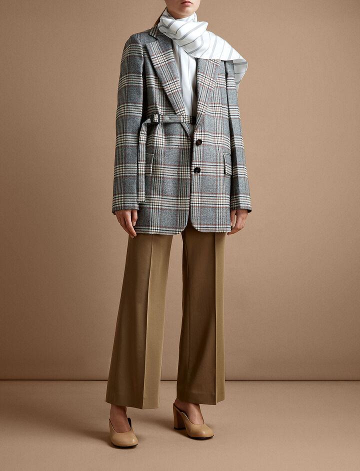Joseph, Rone Wool Gabardine Trousers, in TOFFEE