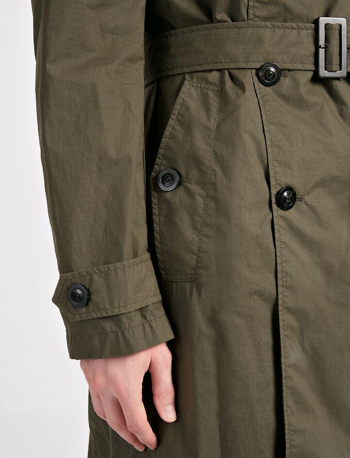 Parachute Cotton Abberton Coat, in KHAKI, large | on Joseph