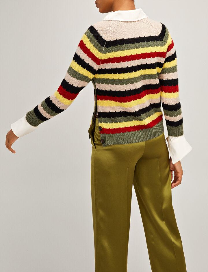 Joseph, Multocolour Stripe Intarsia Sweater, in