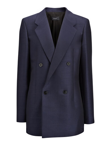Veste Bailey en faile suiting, in NAVY, large | on Joseph
