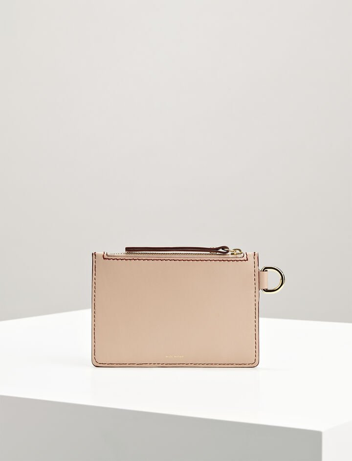 Calf-Leather Pouch, in PALE PINK, large | on Joseph