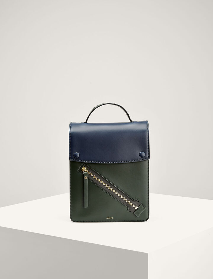 Joseph, Leather Kings Bag, in BERMUDA/NAVY