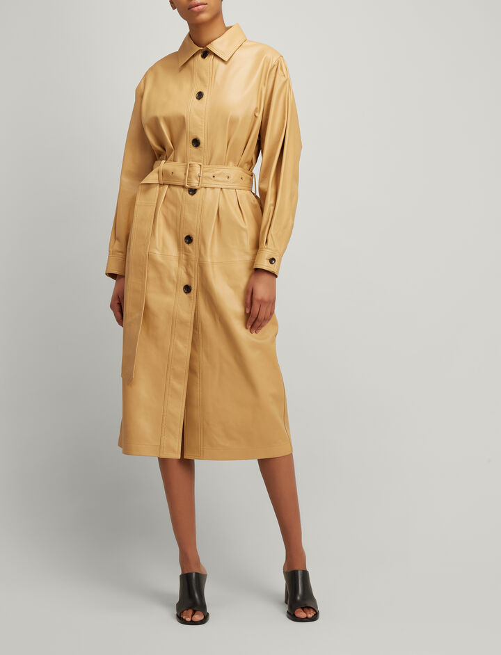 Joseph, Paxon Nappa Leather Coat , in CAMEL