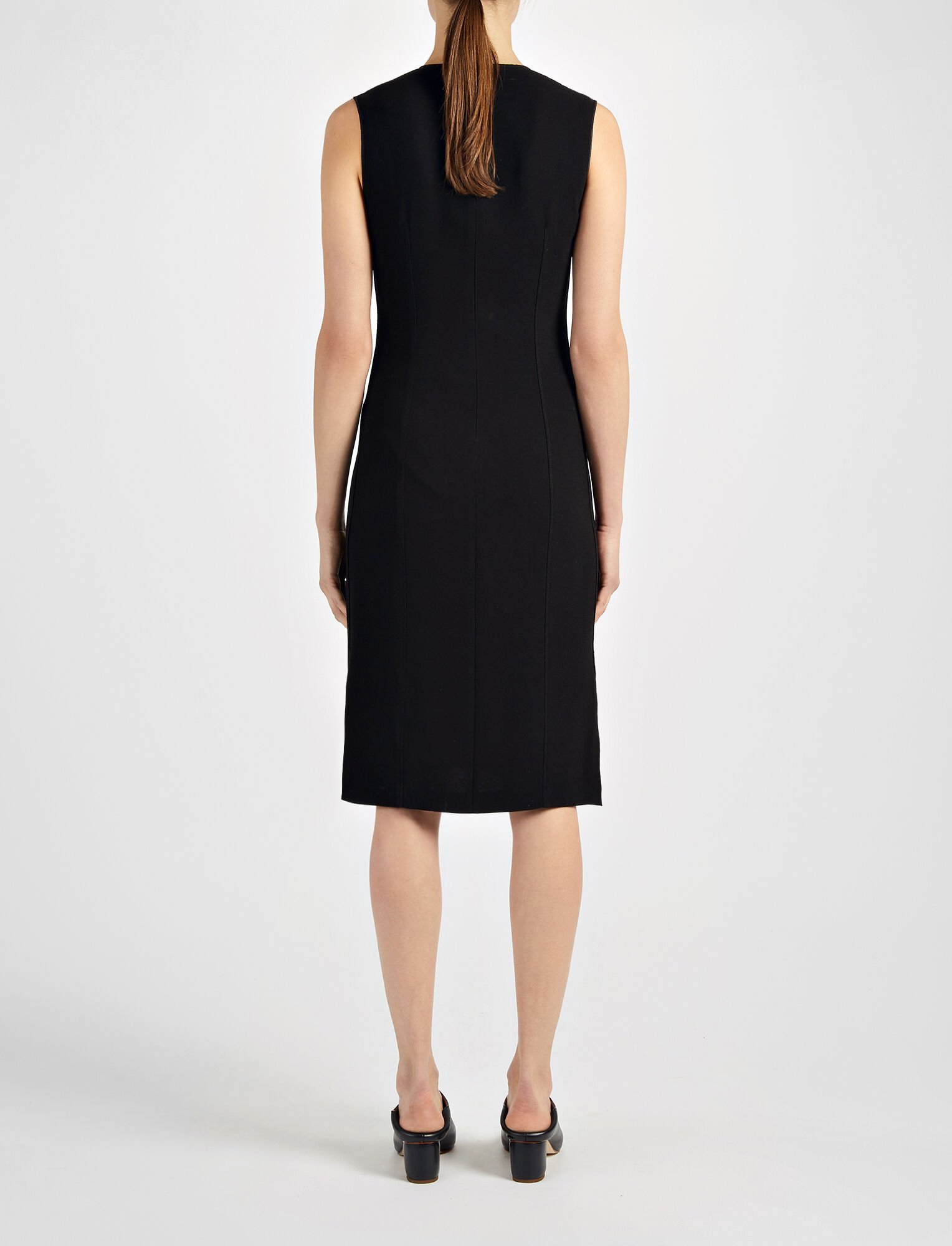 Joseph, Crepe Stretch Sadie Dress, in BLACK