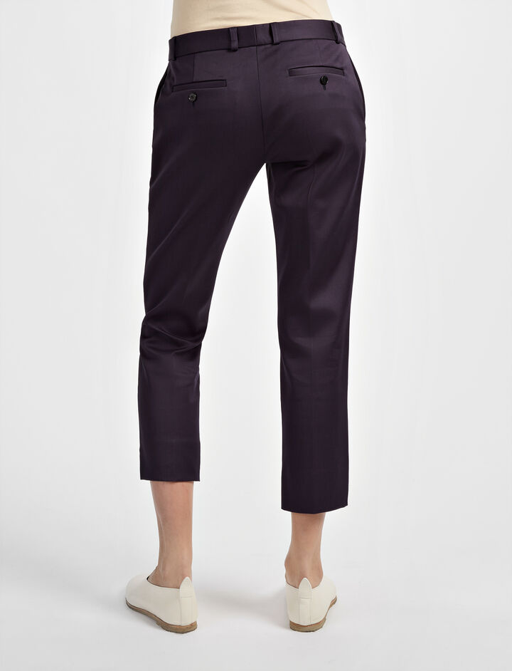 Compact Cotton Bing Court Trouser, in NAVY, large | on Joseph