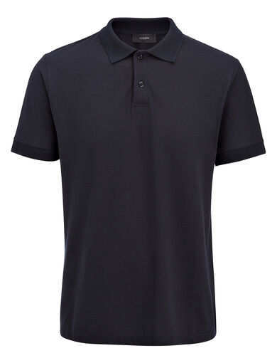 Ice Jersey Polo, in NAVY, large | on Joseph