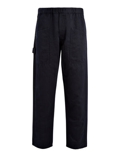 Linen Cotton Angus Trouser, in NAVY, large | on Joseph