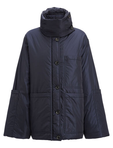 Nylon Douda Coat, in NAVY, large | on Joseph