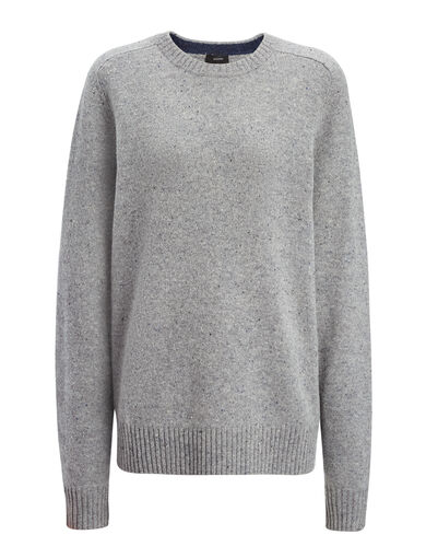 Pull en tricot de laine pure, in GRAPHITE, large | on Joseph
