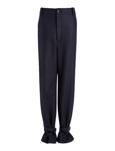 Light Felt Birkeland Trousers, in NAVY, large | on Joseph