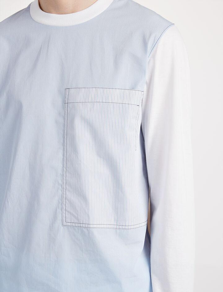 Workwear Stripes Jersey Top, in SKY BLUE, large | on Joseph