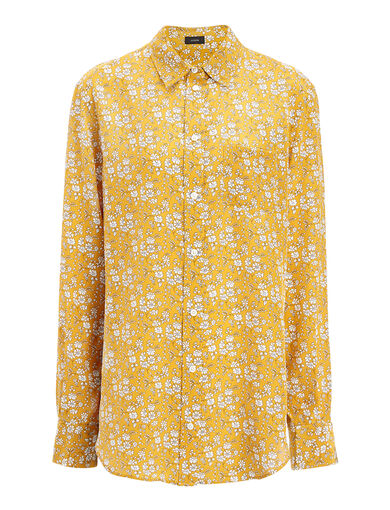 Liberty Print New Garcon Blouse, in DARK OCHRE, large | on Joseph
