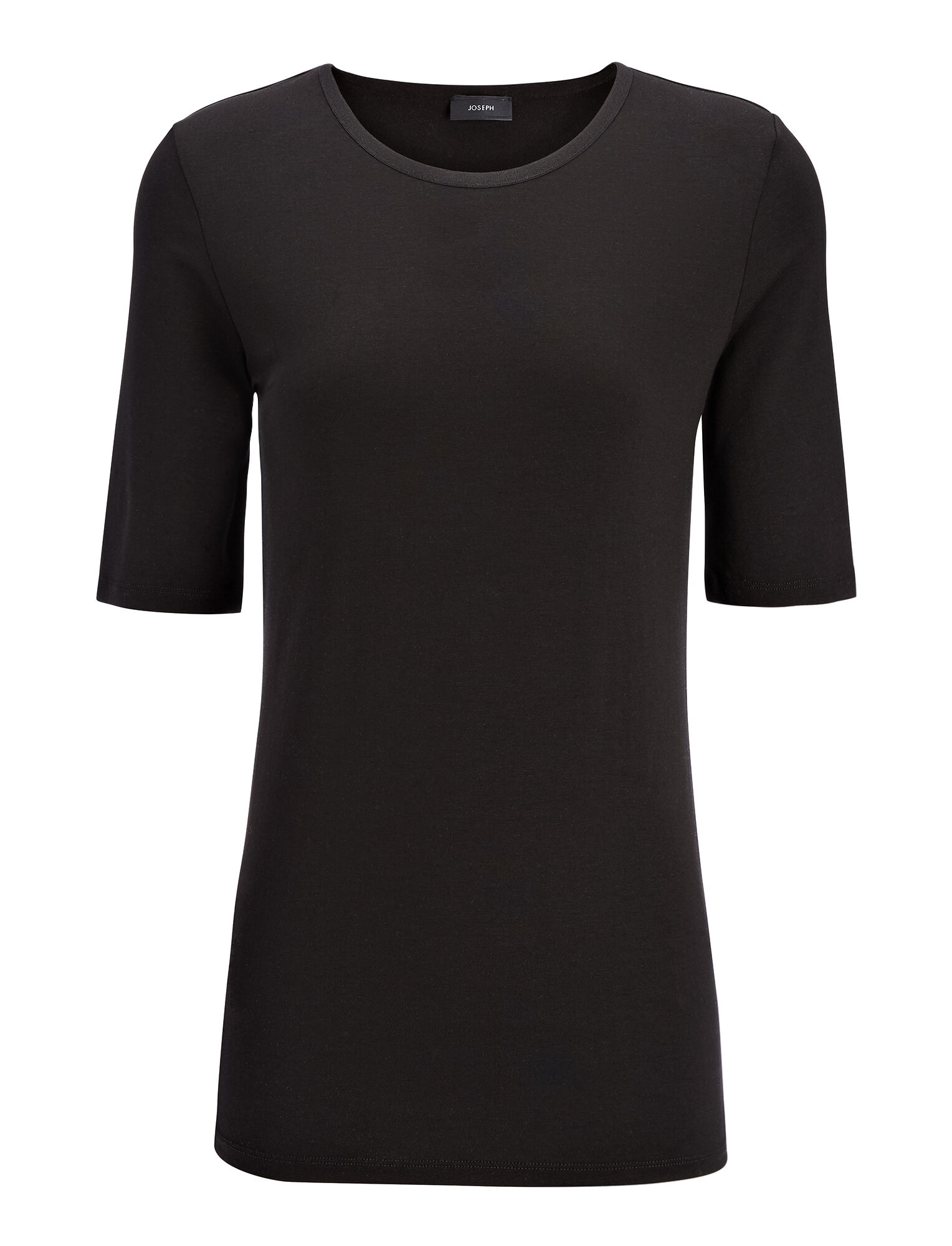 Joseph, Cotton Lyocell Stretch Top, in BLACK