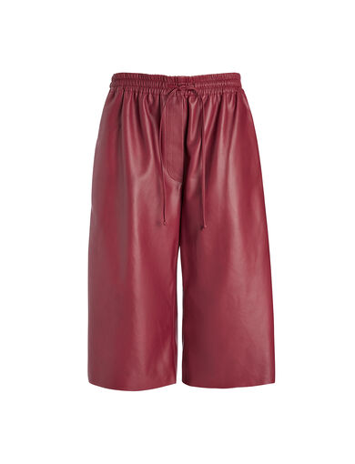 Nappa Leather Boxer Short, in CRANBERRY, large | on Joseph
