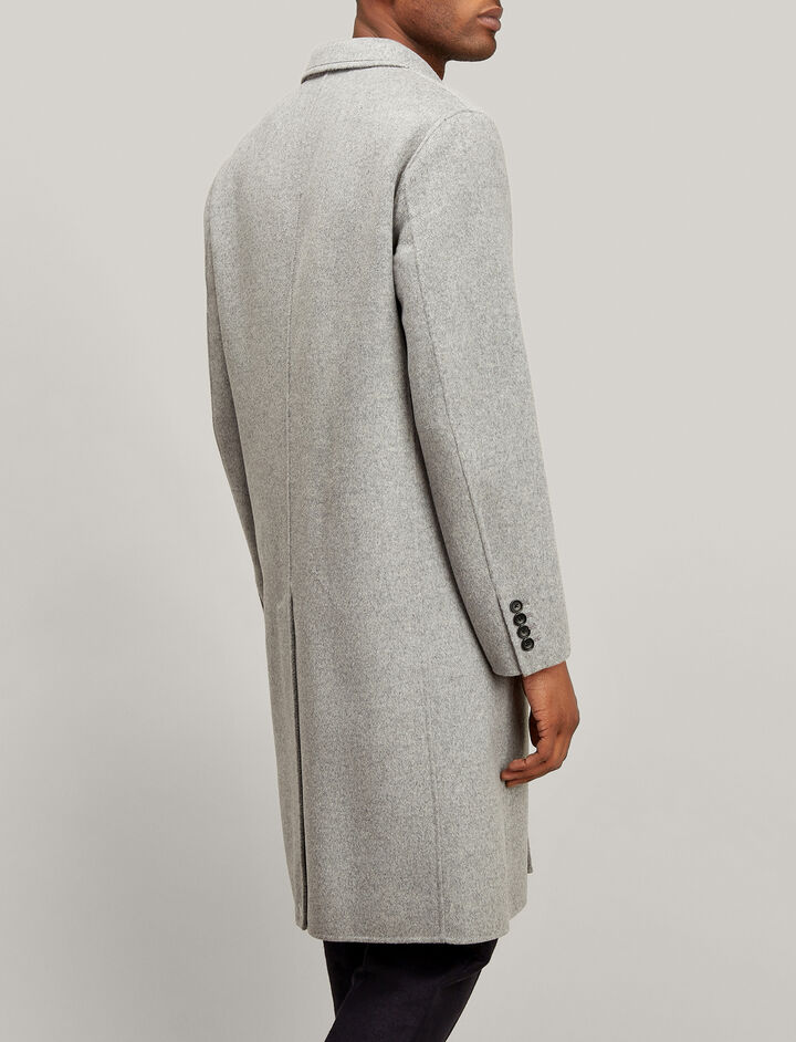 Double Wool Clark Coat, in GREY CHINE, large | on Joseph