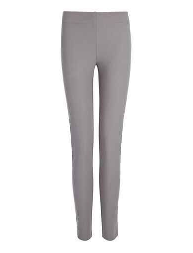 Gabardine Stretch Legging, in GREY, large | on Joseph