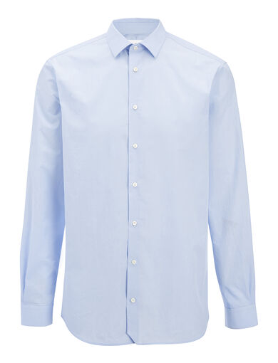 Parachute Poplin John Shirt, in SKY BLUE, large | on Joseph