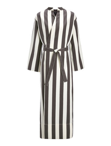 Robe Laurence en shirting à larges rayures, in BLACK/WHITE, large | on Joseph