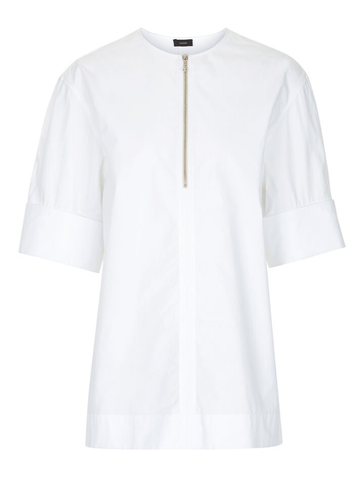 Joseph, Briar Poplin Blouse, in WHITE