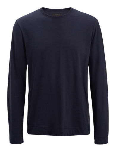 Mercerized Jersey Top, in NAVY, large | on Joseph