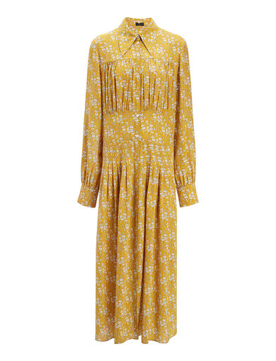 Liberty Print Josie Dress, in DARK OCHRE, large | on Joseph