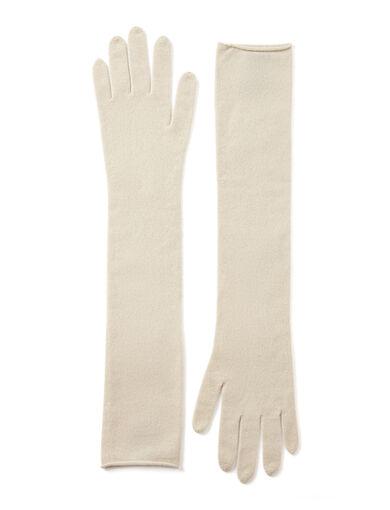 Mongolian Cashmere Gloves, in ECRU, large | on Joseph