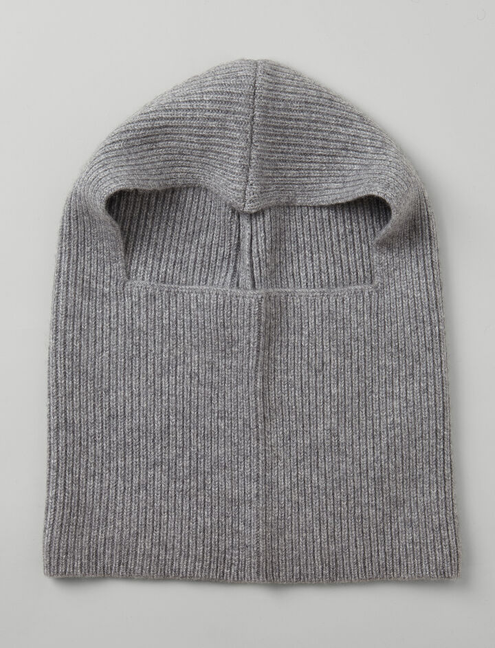Cashmere Luxe Hood, in CONCRETE, large | on Joseph