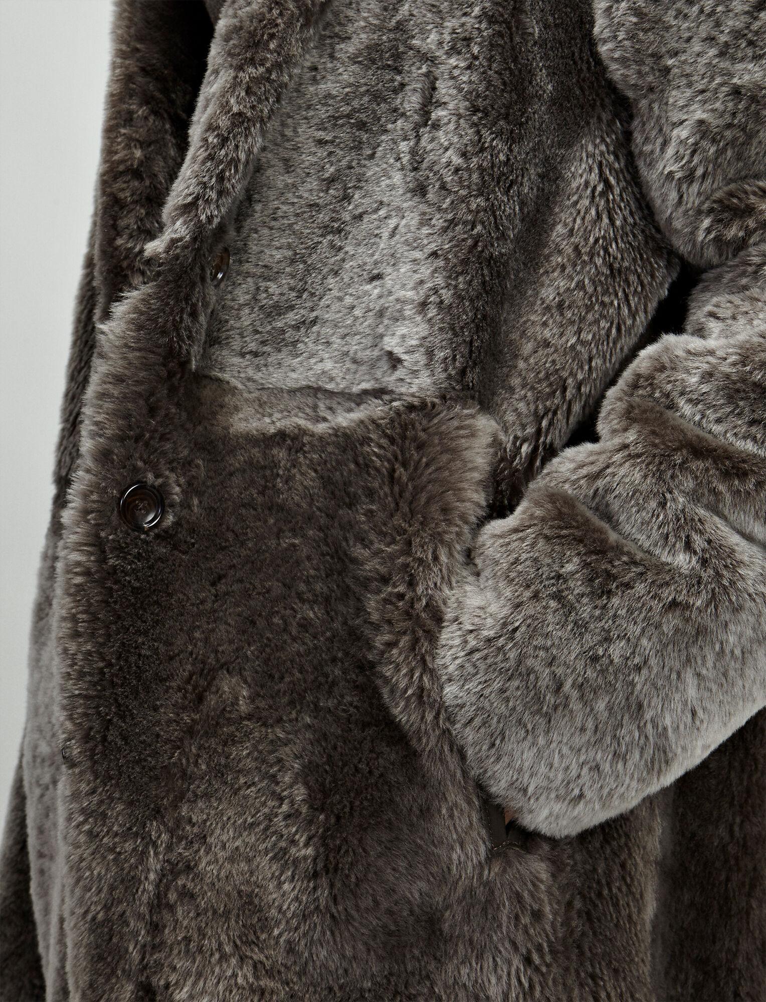 Polar Skin Brittany Sheepskin, in MILITARY, large   on Joseph