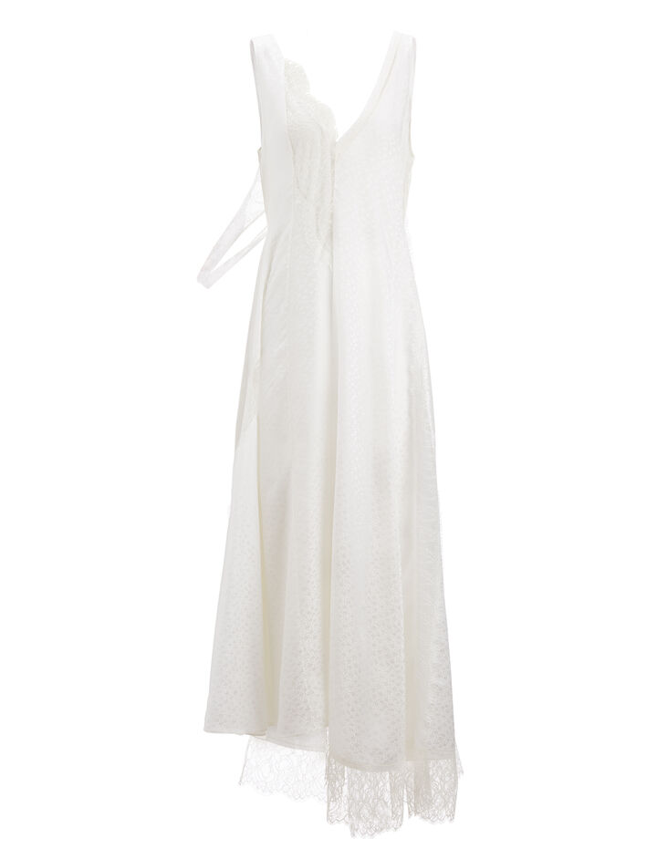 Joseph, Mix Lace Bronte Dress, in CREAM