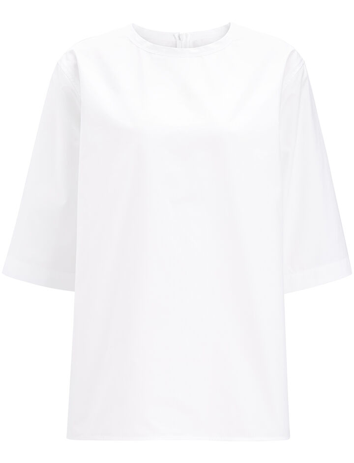 Blouse Finn chemise blanche, in WHITE, large | on Joseph