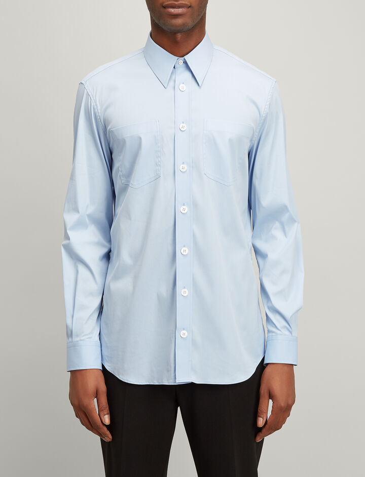 Joseph, Poplin Stretch Delano Shirt, in SKY BLUE
