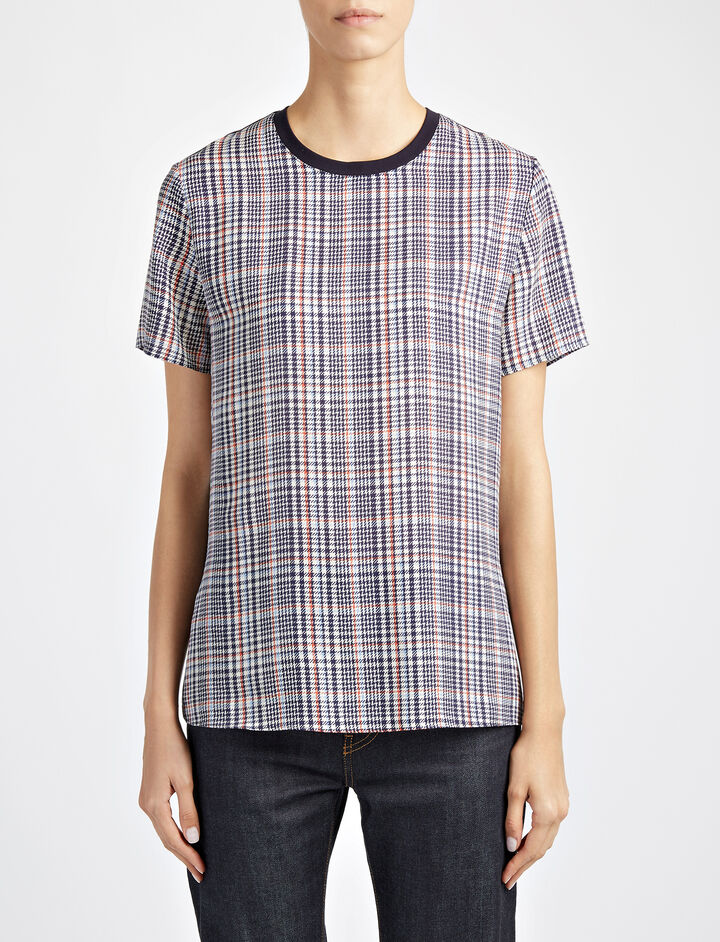 Jersey + Check Mate Tee, in DARK NAVY, large | on Joseph