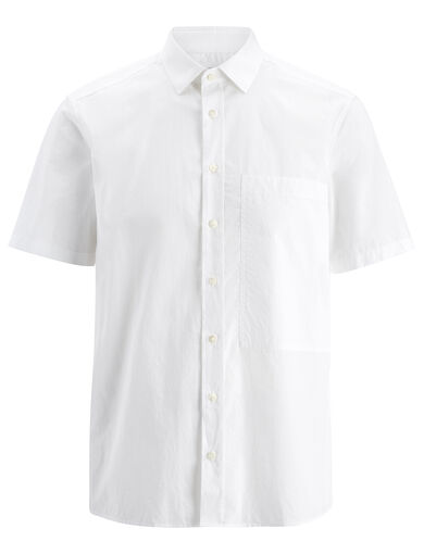 Parachute Poplin Deal Shirt, in WHITE, large | on Joseph