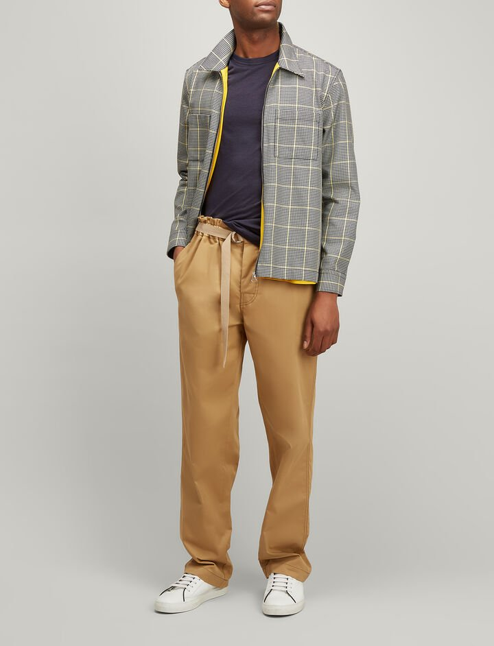 Joseph, Twill Chino Luis Trousers, in CAMEL